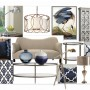 Design 18: Navy & Metallic Accents